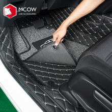 Custom High Quality 3D Eco-friendly XPE Material+Sponge+PU Leather Car Floor Mats For HONDA CRV