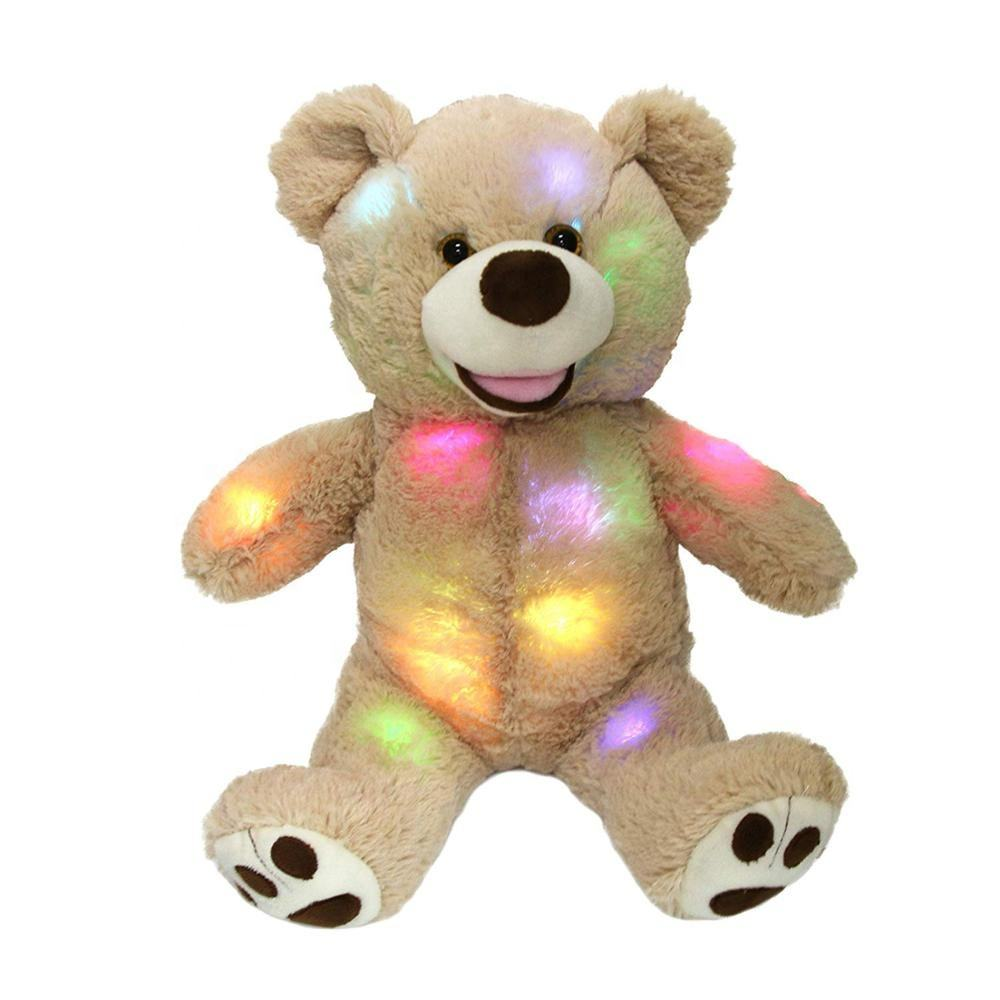 Light Up Teddy Bear Plush Toy LED Bear Stuffed Animals Glow Teddy Bear Soft Plush Toy Gifts for Valentine's Day Gifts
