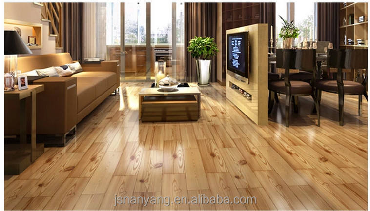 Larch natural color beautiful patterns engineered wood flooring
