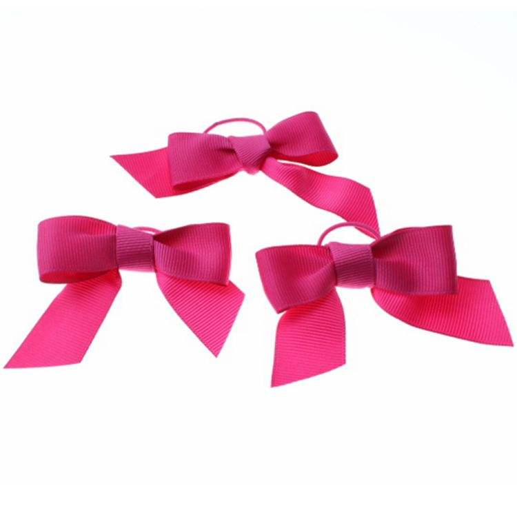wholesale pre-tied satin ribbon bow with elastic loop