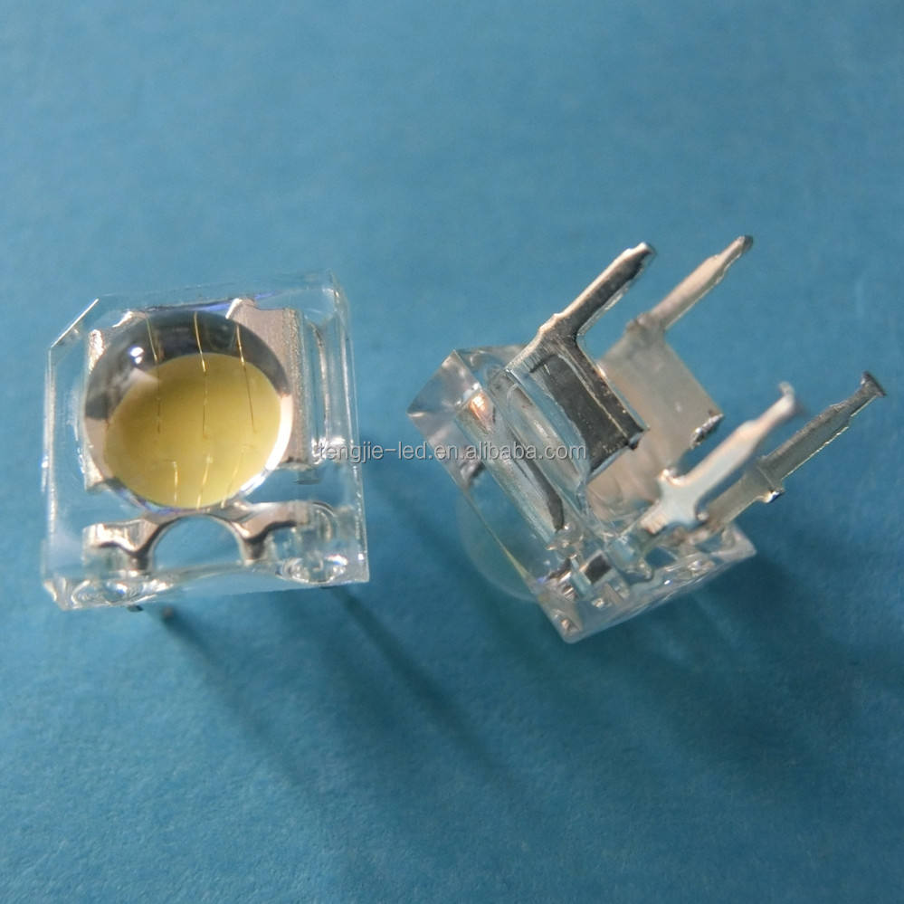 Exported to Europe square lamp 4 pins three chips super flux LED piranha 5mm white