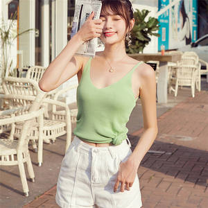 New arrival sleeveless fitted bodice women vests knitted summer sweaters