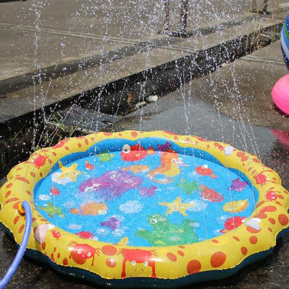 Outdoor Sprinklers Baby Water Splash Play Mat baby folding play mat