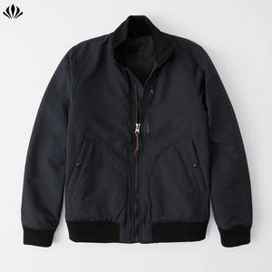 New fashion top quality custom water and wind-resistant zip-up men's deck bomber jacket
