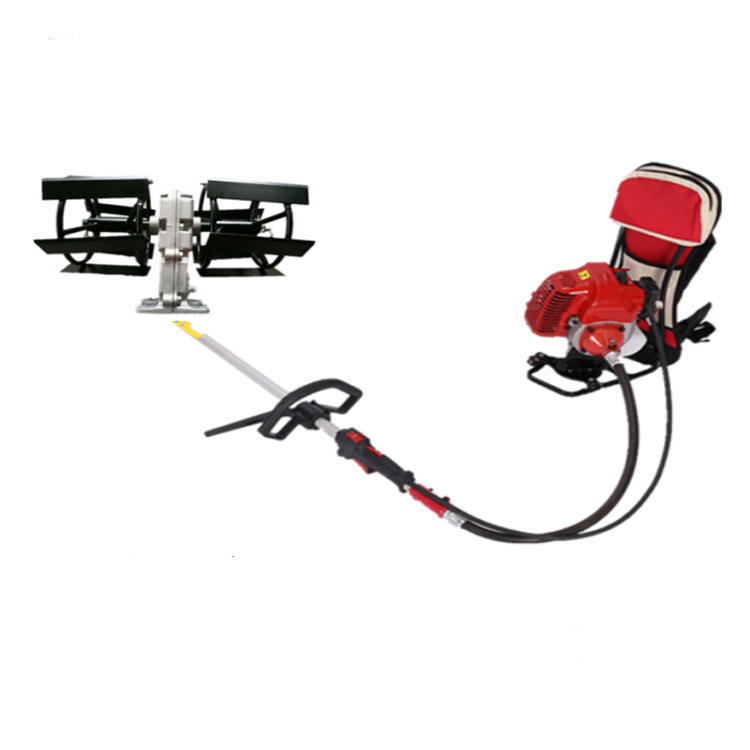 4 Stroke multifunction lightweight Backpack electric power weeder machine mini Grass Rotary Tiller