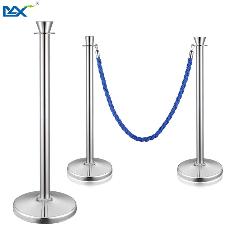 New Style Customized Stainless Steel Red Velvet Ropes And Poles Stanchions