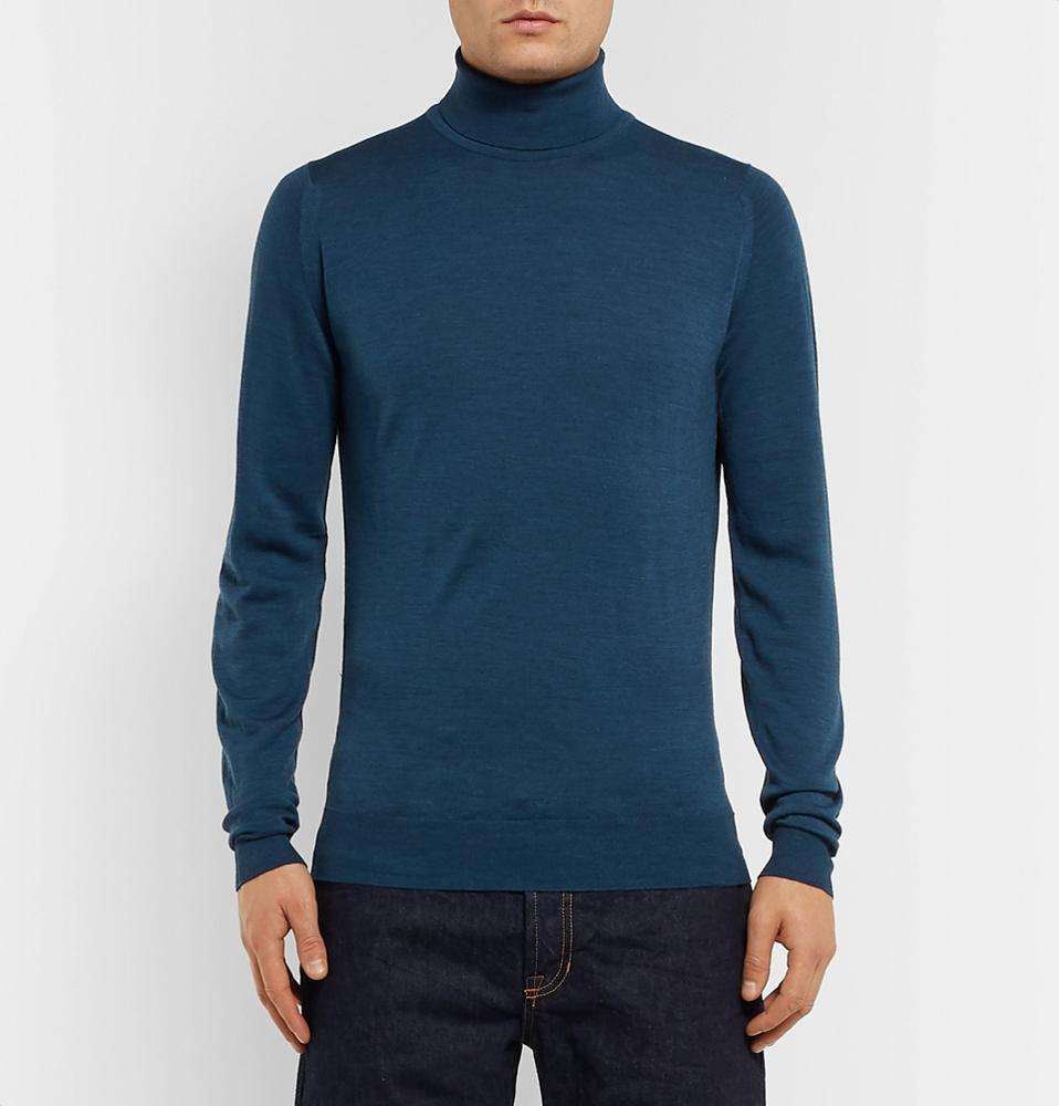 OEM Men Classic Merino Wool Turtle Neck Pullover Men Sweater