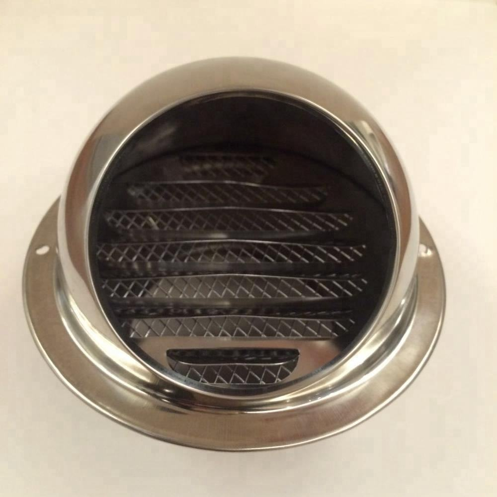 Quality exhaust air louver wall air vent cowl stainless steel round ceiling air vent