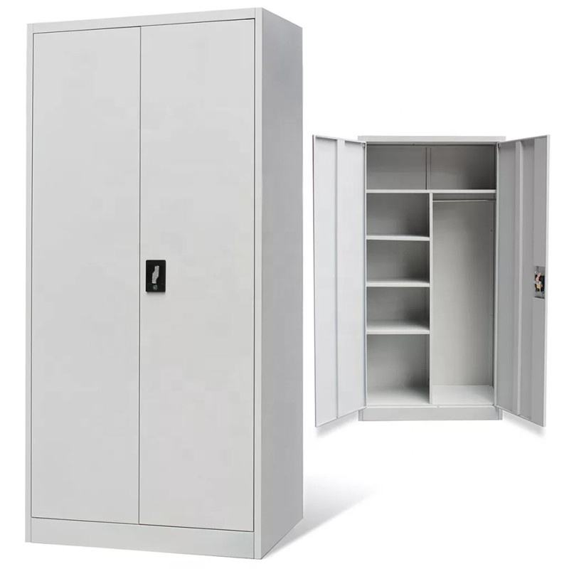 High quality multi-function Narrow 2 Door steel clothes almirah storage wardrobe cabinet