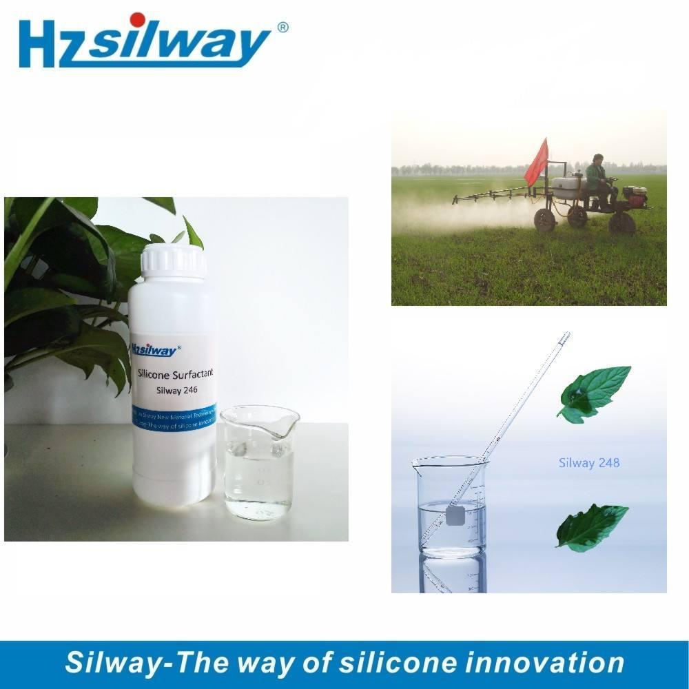 Silway 246 화학 제품 습윤제 농업 유기 실리콘