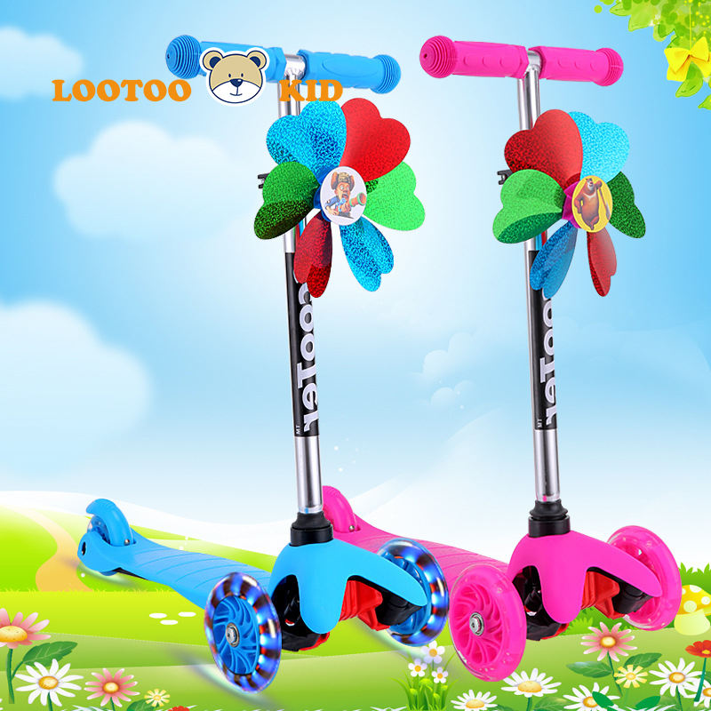 Alibaba china factory hot sale cheap price newest light music three wheel scooter for kids