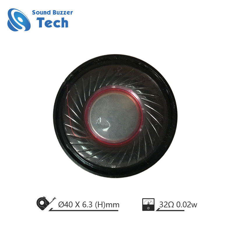 40mm height 6.3mm 0.02w 32ohm passive mini intercom speaker
