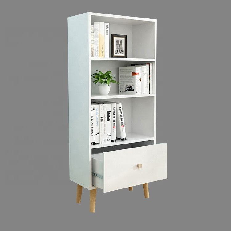 hot selling modern wooden China factory price shelf bookcase for living room