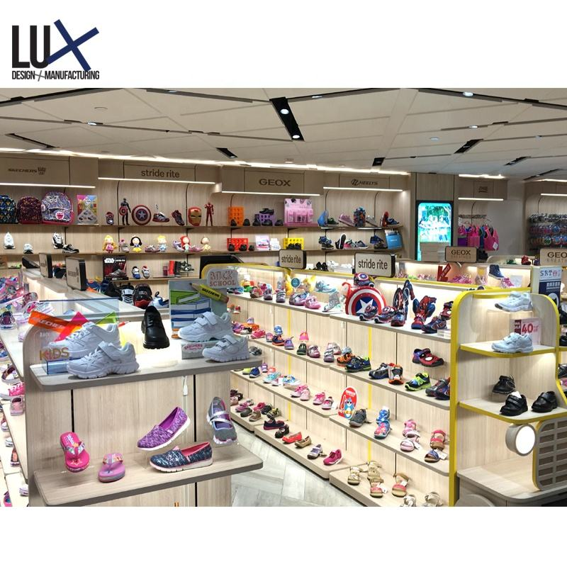 CE certified environmental-friendly brand shoes shop interior design import from china