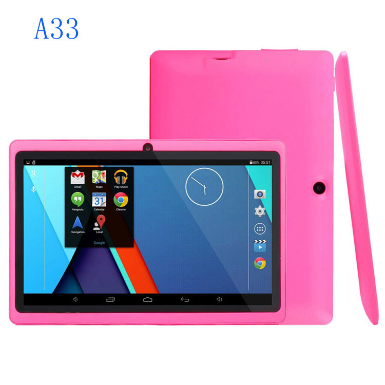 Q88 <span class=keywords><strong>allwinner</strong></span> a33 7 zoll tablet wifi 1024x600 8 GB android 5.0 super smart tablet pc