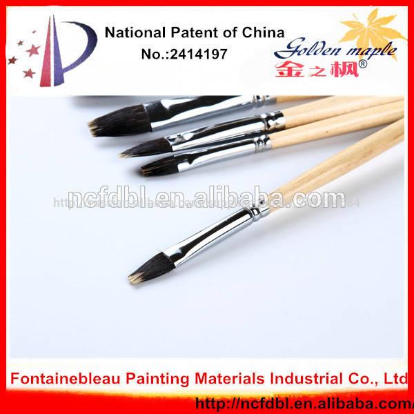 высокое качество щетины щетка волос деревянной ручкой искусств и ремесел