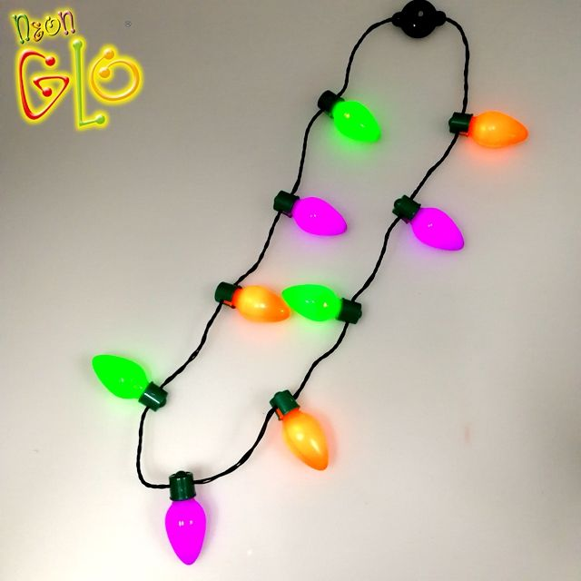 Halloween Flashing Gift LED Battery Necklaces
