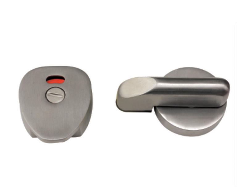 Toilet Cubicle Partition Hardware Accessories Indication Door Handle Lock