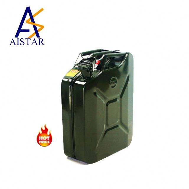 Hot Product Meta Military portable stainless steel 5L 10L 20L 30L American standard petrol jerry can with case spout