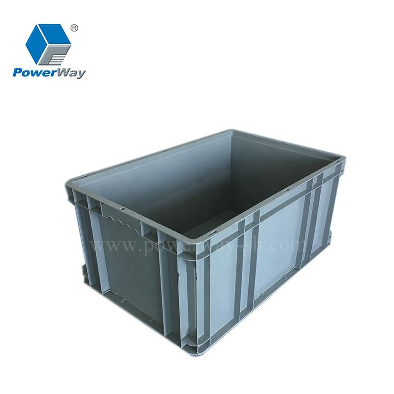 EU standard storage plastic stackable storage container for warehouse