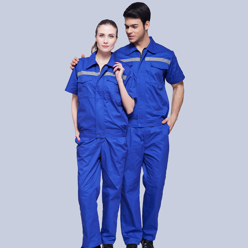 industrial unisex Short Sleeve auto store repair factory Workers Work Wear men women's shirts work uniform