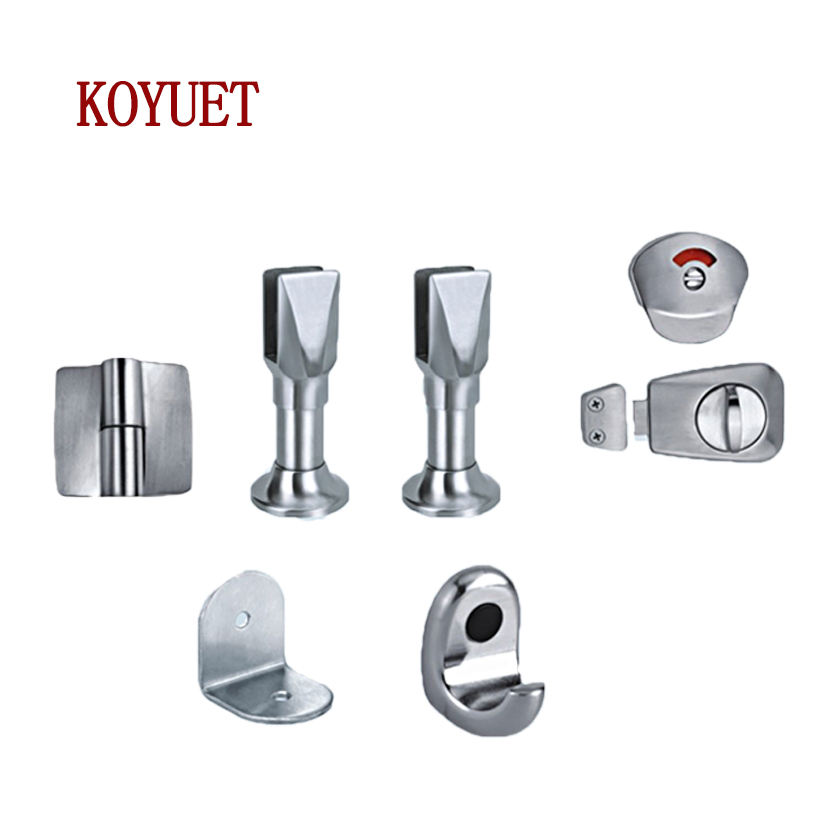 KOYUET Public Casting Stainless Steel 304 Bathroom Accessory Toilet Partition Hardware
