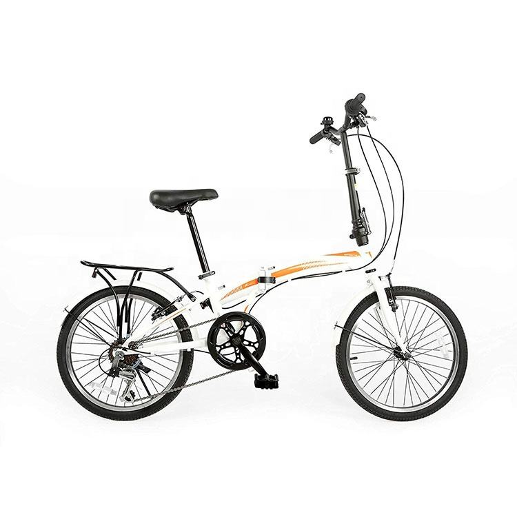 China Brand Aluminum Alloy Bicycle Mountain Bike Folding Bicycle with Steel Fork
