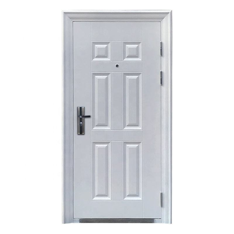 American style modern white flat exterior mobile home doors steel security door for sale