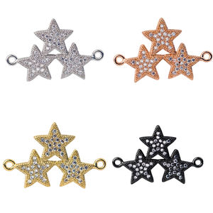 Diy accessories jewelry Lead Nickel Cadmium Free Star Shape Charm Necklace Pendant Connector