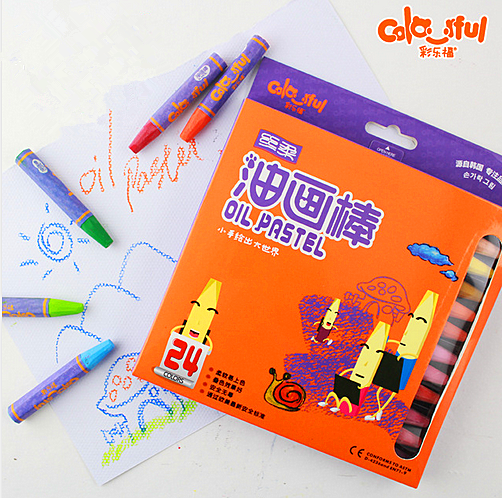 Colorful 24color Non-toxic oil pastel set for kids wholesale wax crayon