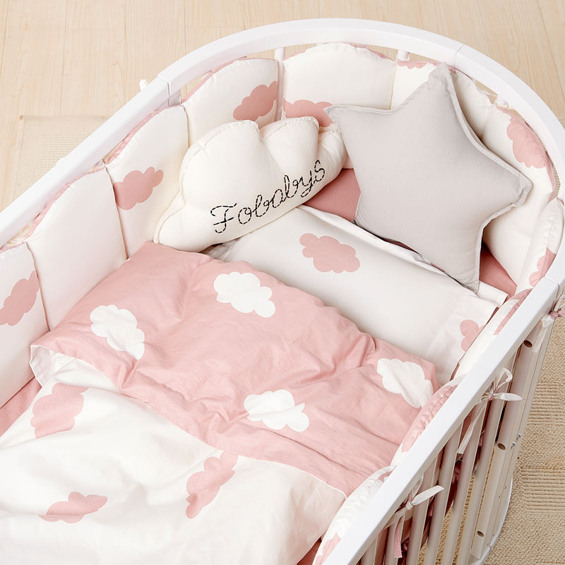Bed set around prevent hurting baby detachable and cleaning soft baby cotton quilt