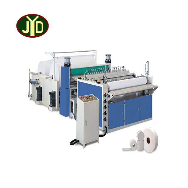 JYD Factory Sales Rewinding Slitter Paper Rewinding Machine/High Speed Toilet Tissue Paper Rewinder Embossing Machine