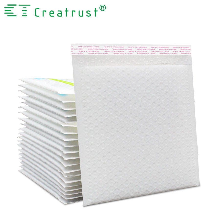 Shenzhen Creatrust Factory Wholesale Custom Printed Red/Pink Colored Plastic Bubble Mailing Bag Padded Envelope