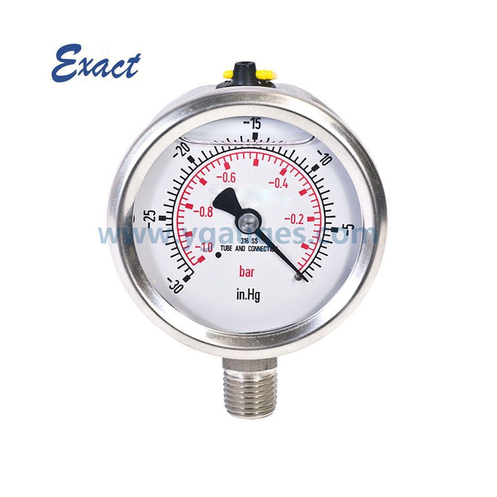 all SS oil filled vacuum manometer