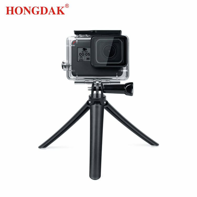Hongdak Handheld Monopod Waterproof Selfie Stick Stand Mini Tripod Foldable Mount Holder Grip for Gopro Camera