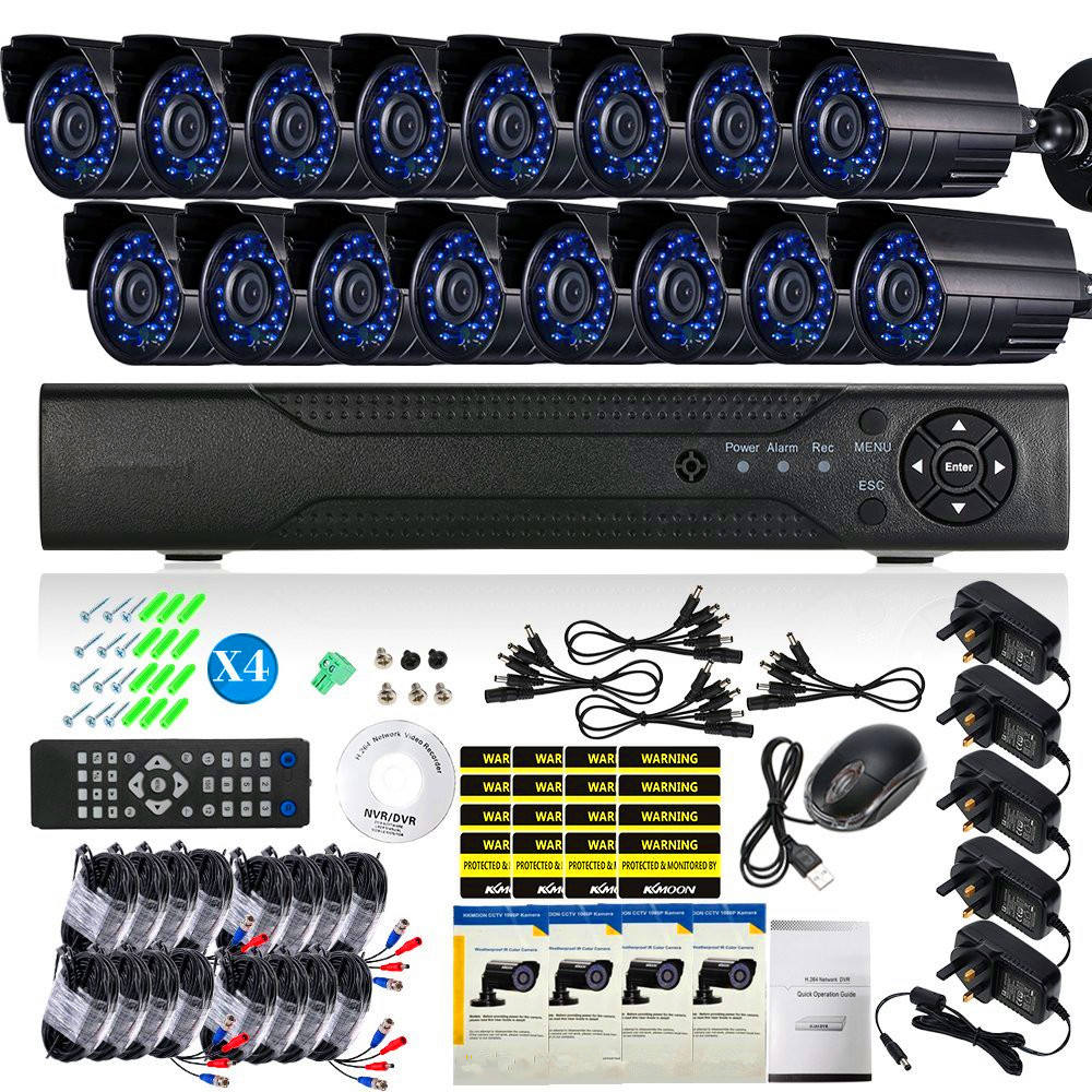 Surveillance Security System 16 Channel Standalone H.264 DVR 16pcs CCTV Day/Night Camera