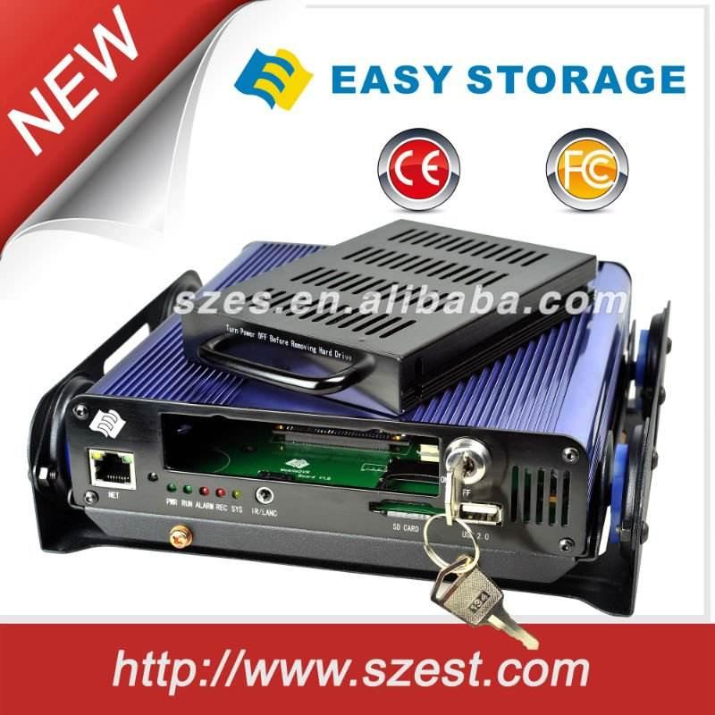4-х канальные автомобильные видеорегистраторы с жестком диском для грузовиков и общественных автобусов с поддержкой Wifi и GPS
