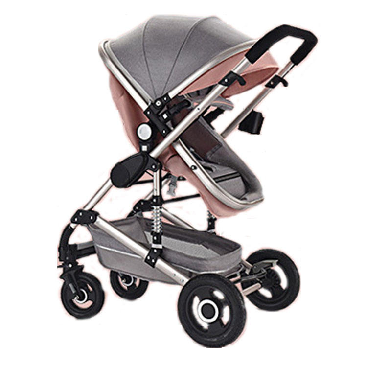 Aluminum frame Easy folding traveling series baby pram stroller 3 in 1 with carseat adapter baby stroller