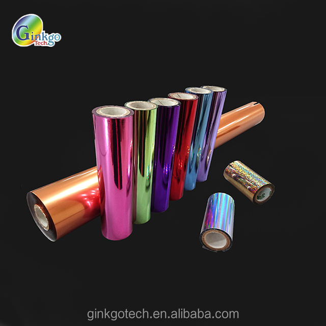 Glass hot stamping aluminum foil for cosmetic container , OEM hologramc