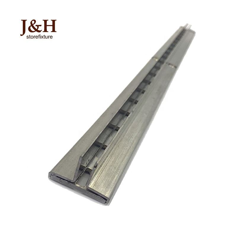 Zinc Metal Strut Channel Recessed T Slotted Standards 1/2 Inch Slot 1 Inch On Center
