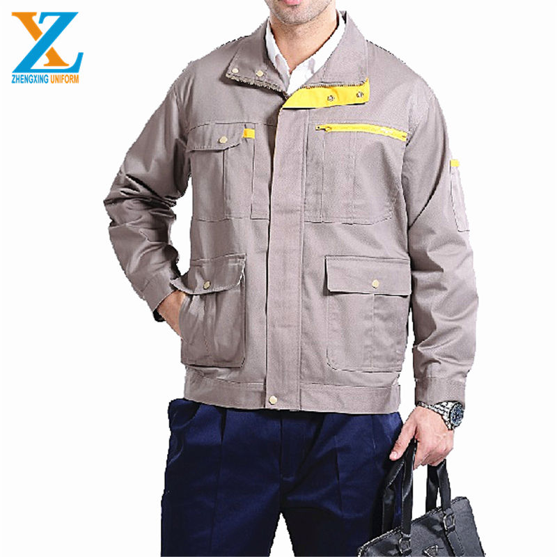 Cheap wholesale custom design mechanic safety overalls wear factory uniforms work shirts