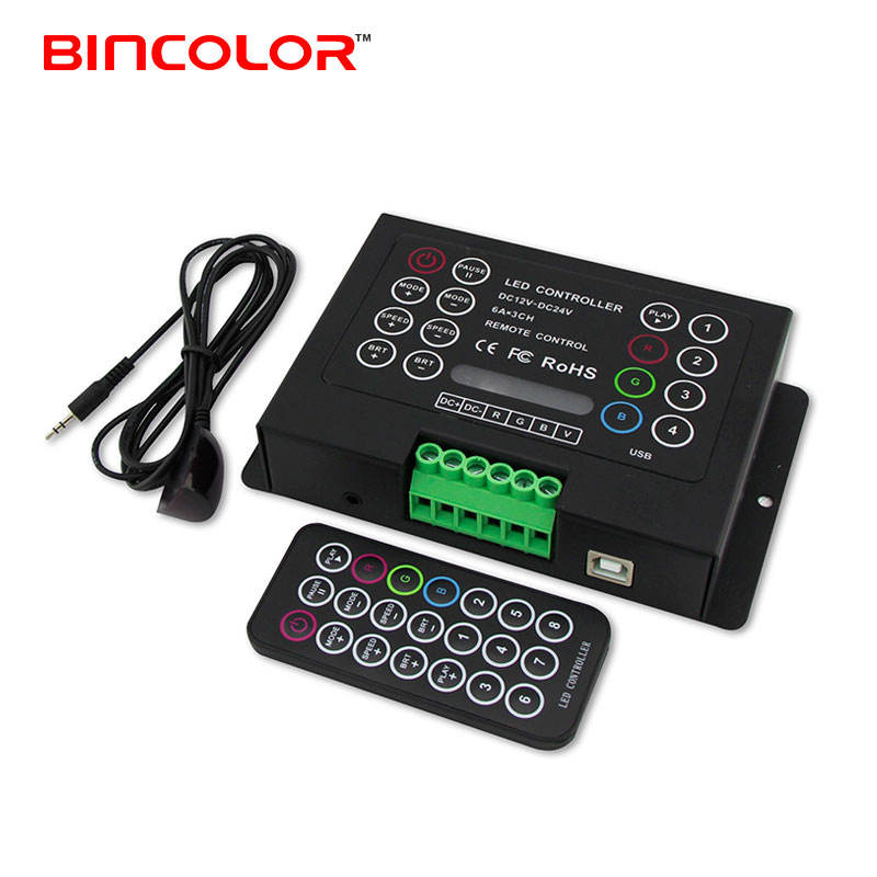 BC-380-6A 3 channel 21 key ir remote control 6A diy multifunction led strip rgb controller
