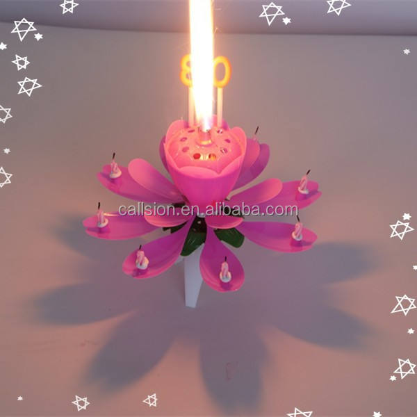 Durable fireworks firing creative flower fieworks birthday candle for sale