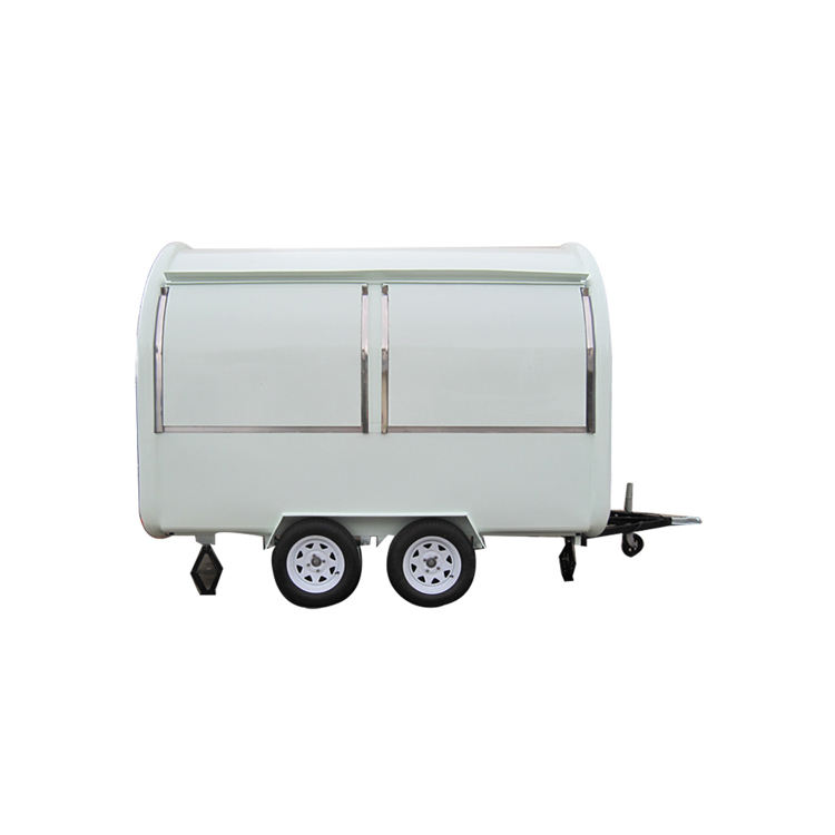 New arrival towable mobile coffee food van fast food van for sale breakfast cart/fast food kiosk trailer