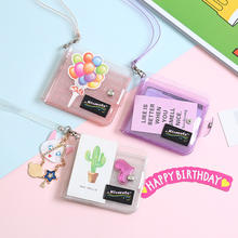 Promotion Gifts Transparent Plastic Custom PVC Business Phone ID Credit Card Holder Wallet