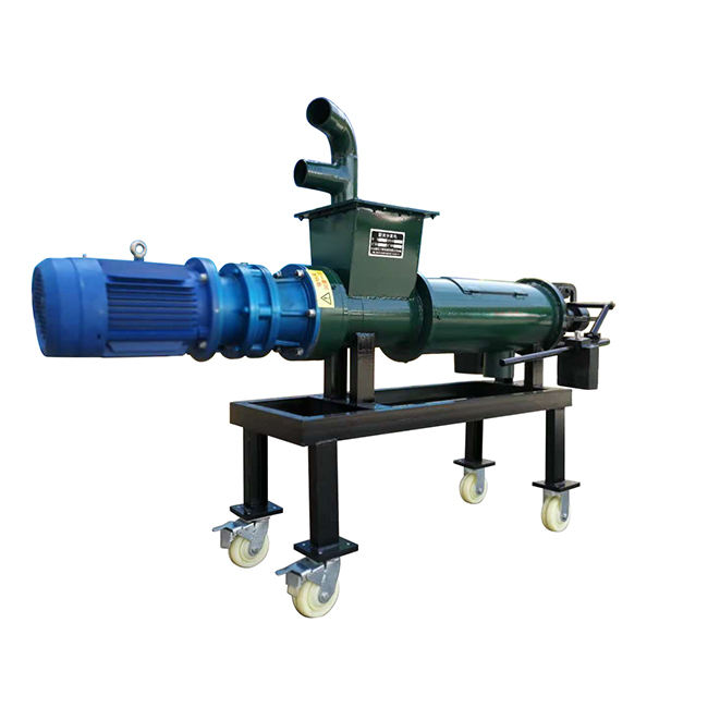 brewer's grains honey screw press type processing machine cow dung manure composting milling dewatering farm machinery