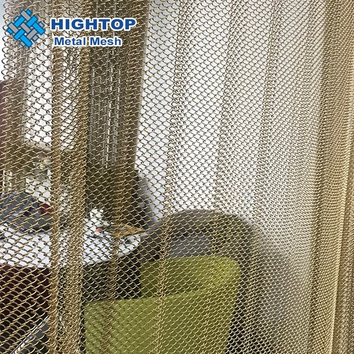 Beautiful color decorative wire mesh/ metal mesh curtain