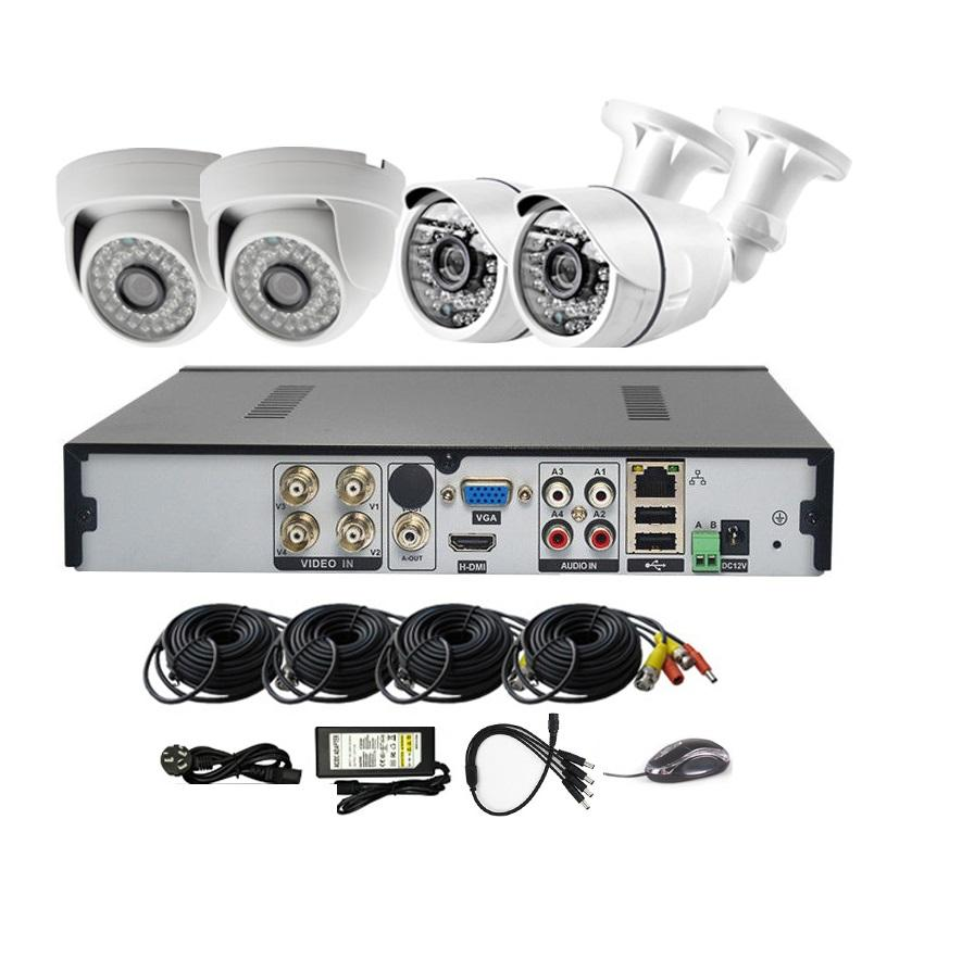 OEM & ODM 4CH CCTV Camera System H.264 DIY DVR KIT 와 Cloud Mobile App