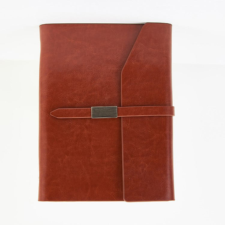 A4 A5 A6 Eco friendly Notebook Gifts Pu Leather Power bank Notebook Note book Ring Binder Notebook with Magnet Closure