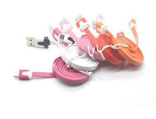 Quality noodle 1M data line ForSansung,Mobile Phone USB 2.0 Data Cable
